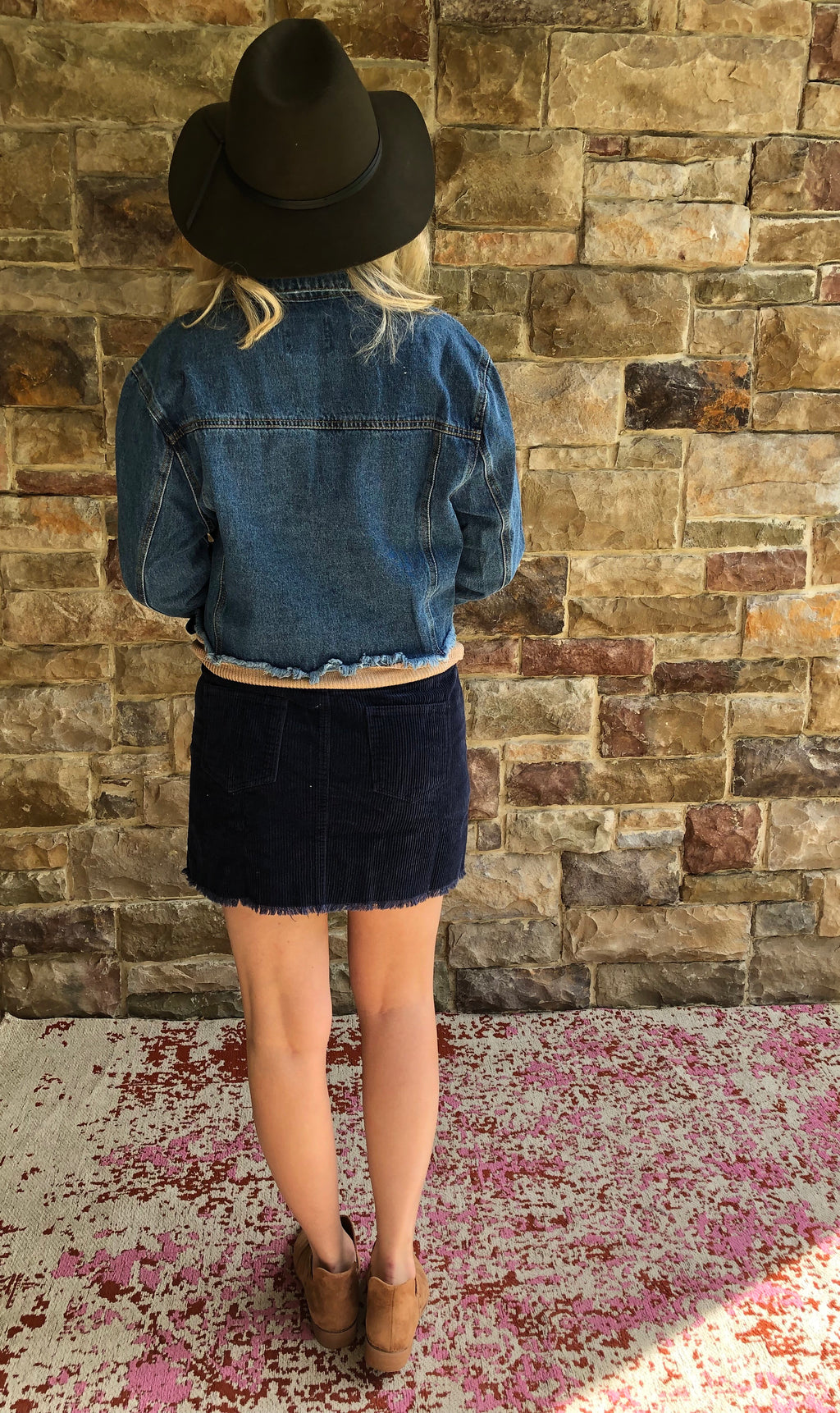 Maddox Cropped Denim Jacket