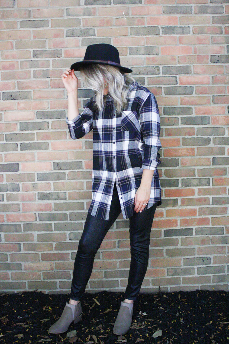 Leah Longline Plaid Tunic