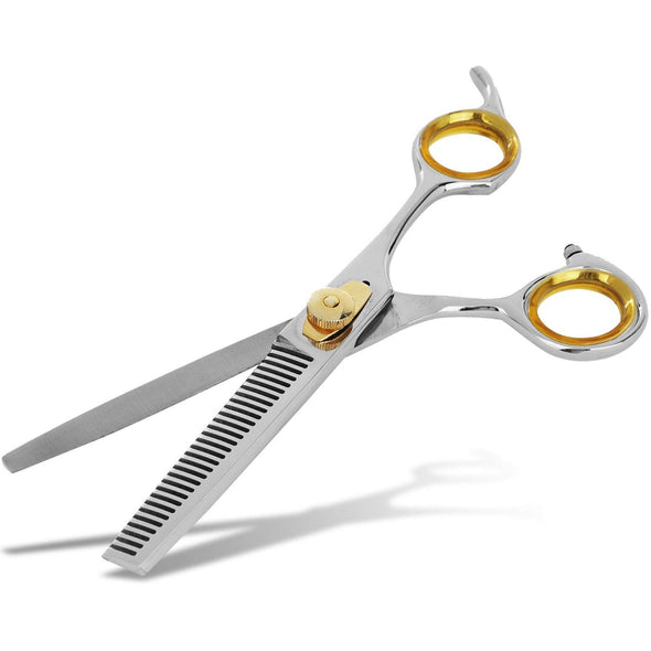 Gold Touch Professional Thinning Barber Scissors: Sharp 6.5 Inch 30 Teeth