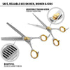Gold Touch Professional Barber Set: 6.5 Inch Straight Scissors + 6.5 Inch Thinning Shear