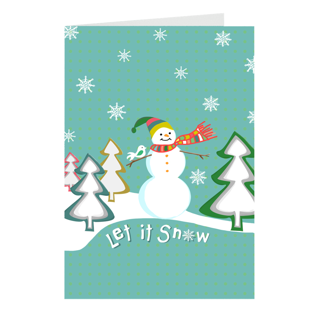 """Let it Snow"" Christmas Card"