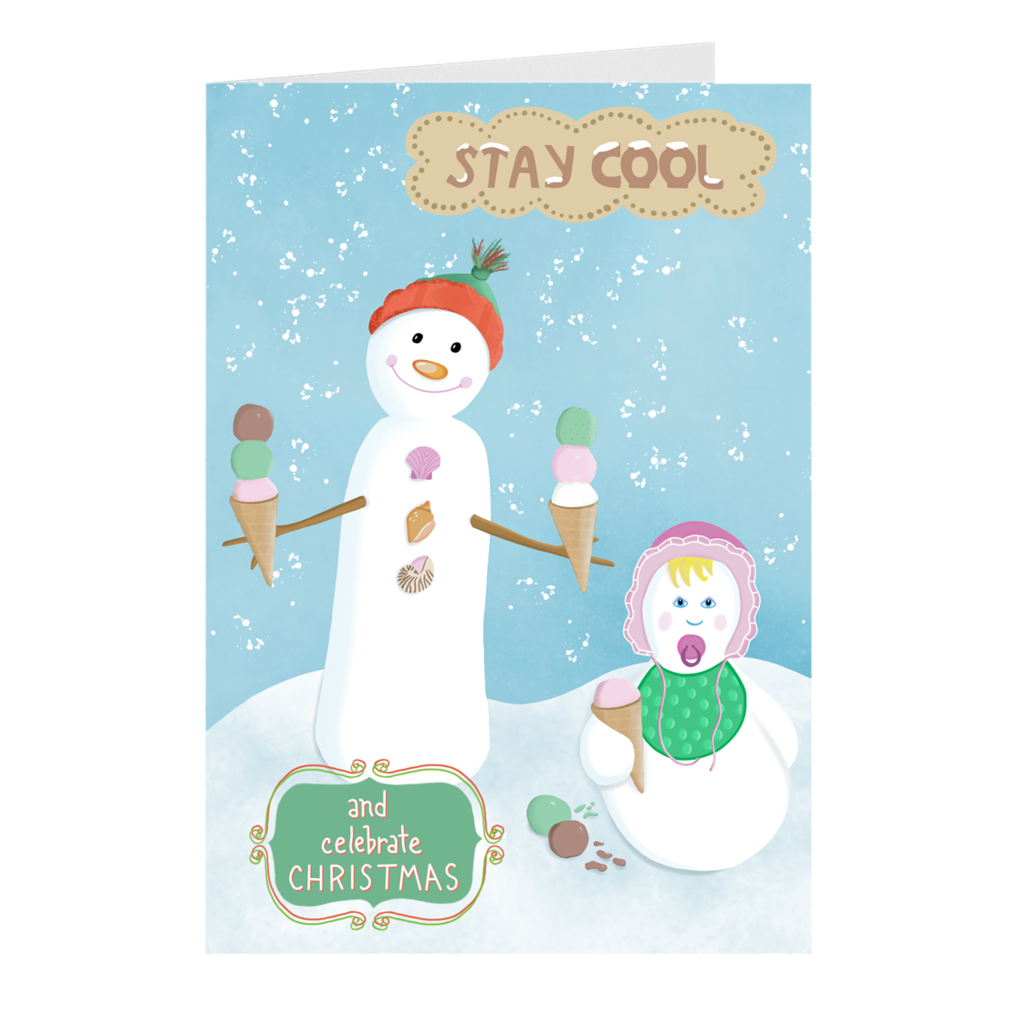 """Stay Cool""       Christmas Card"