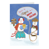 "Mini Christmas Cards - ""Ropin' In A Happy Holiday"", 5-count"