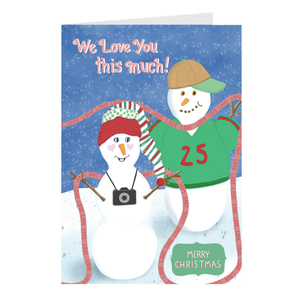 "Mini Christmas Cards - ""We Love You This Much"""