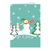 "Mini Christmas Cards - ""Let It Snow"", 5-count"