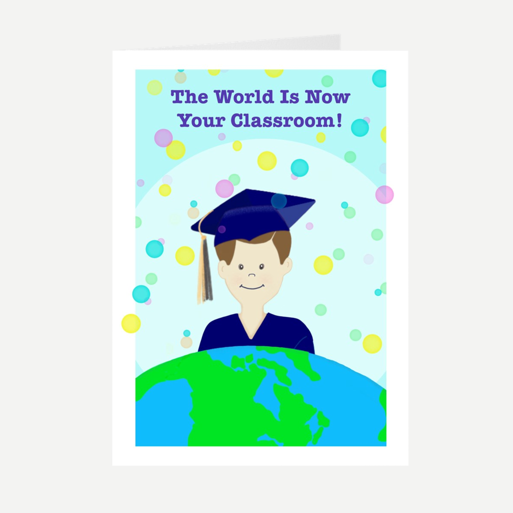 "Neon ""His Graduate"" Greeting Card"