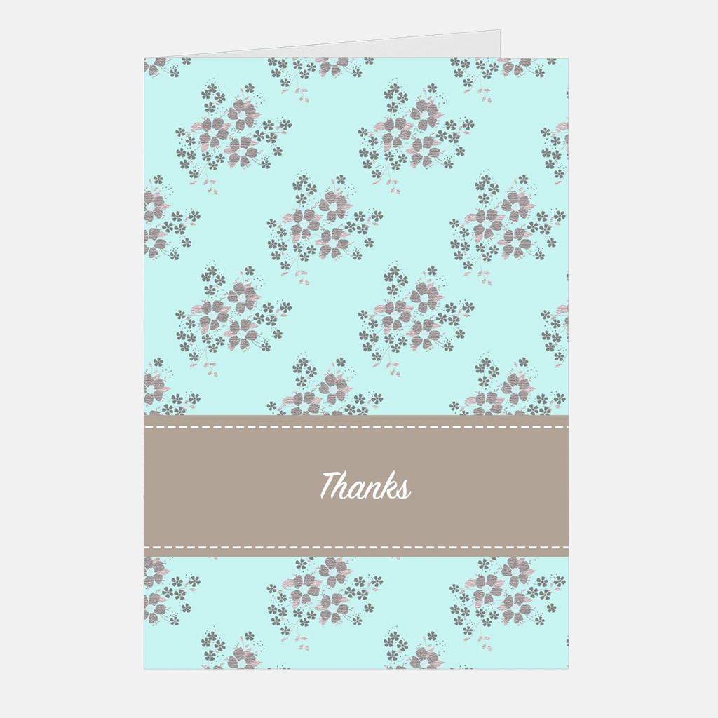 """Teal Bouquet"" Thank You Note Cards, 5-count"