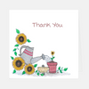 "Sunflower ""Thank You"" Greeting Card"