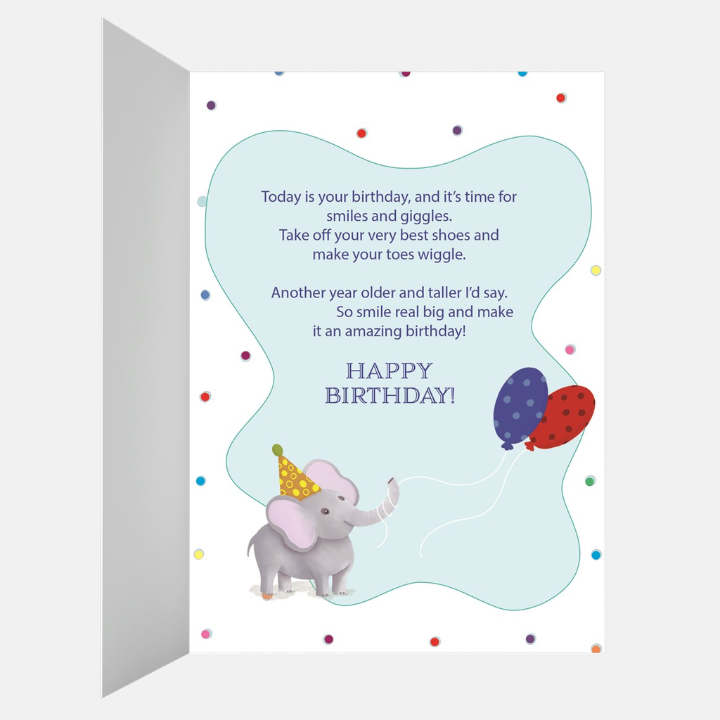 Cute Birthday Giraffe With a Special Gift - Kid's Love Animals