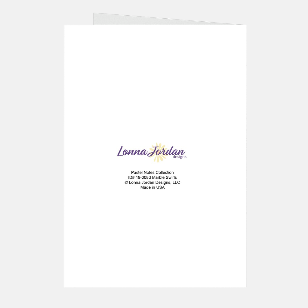 """Marble Swirls"" Thank You Note Cards, 5-count"