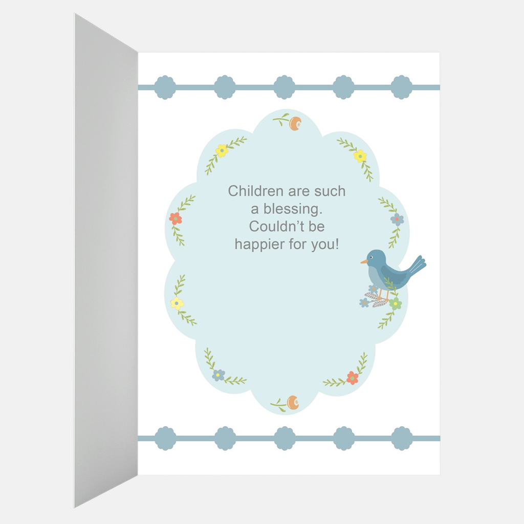 Floral Greeting Card for New Baby