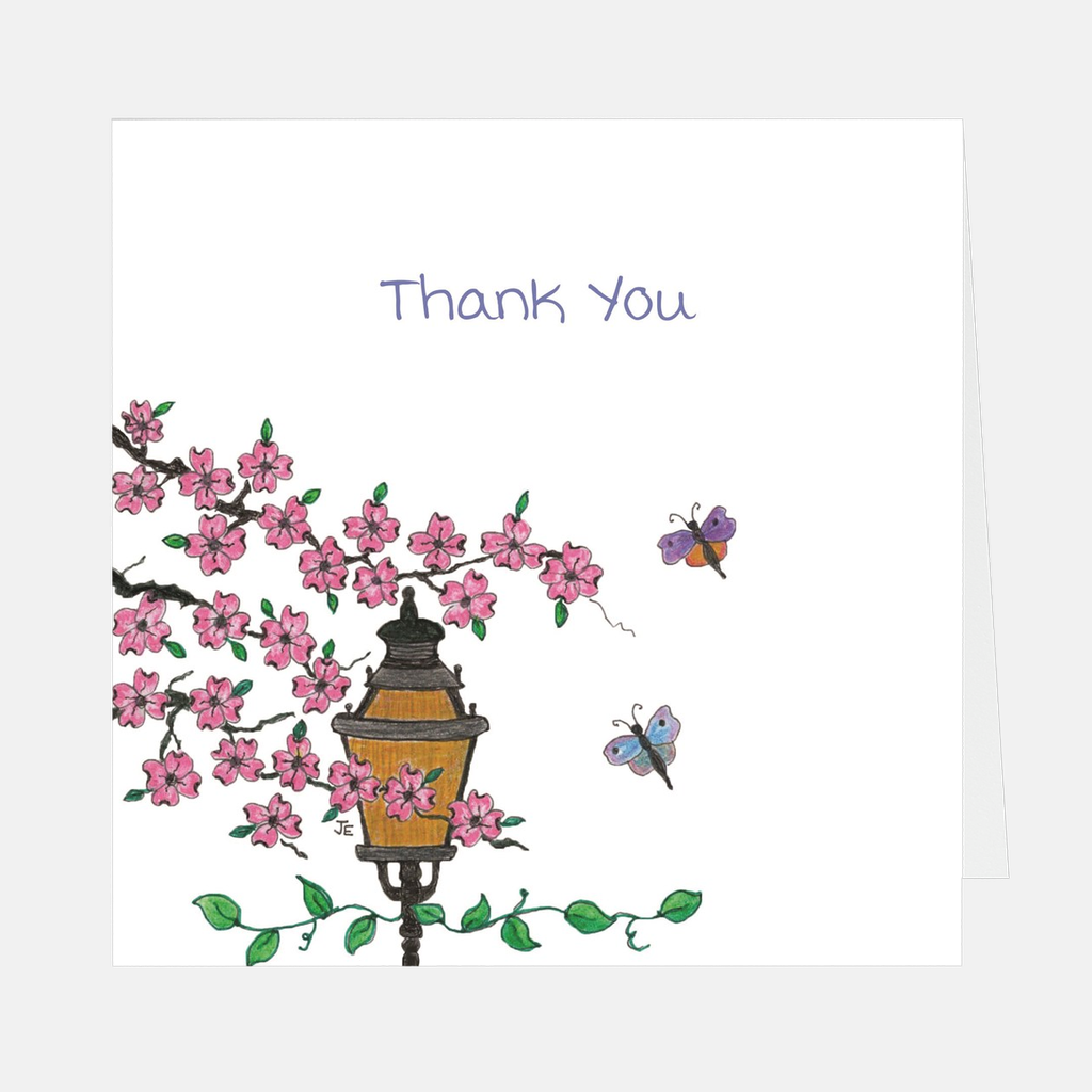 "Pink Dogwood ""Thank You"" Greeting Card"