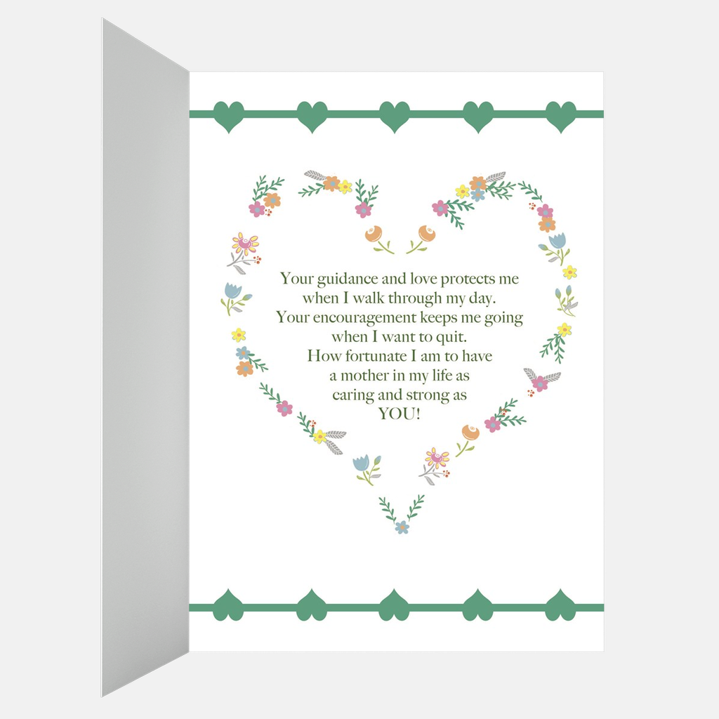 "Floral ""Happy Mother's Day"" Greeting Card"