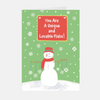 """Lovable Snowman"" Christmas Greeting Card"
