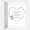Sweet Blue Floral Birthday Greeting Card for Bird Lovers