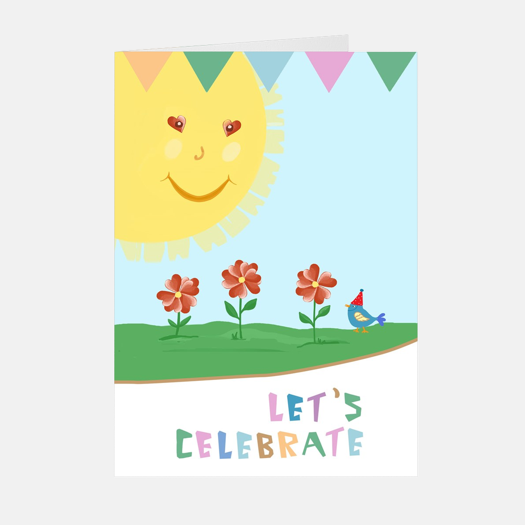 """Let's Celebrate"" Greeting Card or Invitations"