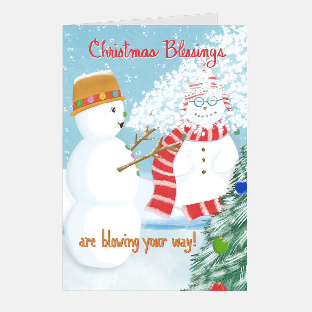 Mini Christmas Cards - Christmas Blessings, 5-count