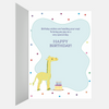 Elephant Birthday Wishes Card for Kids