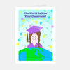 "Neon ""Her Graduate"" Greeting Card"