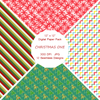 """Christmas One"" Digital Patterns and Paper"