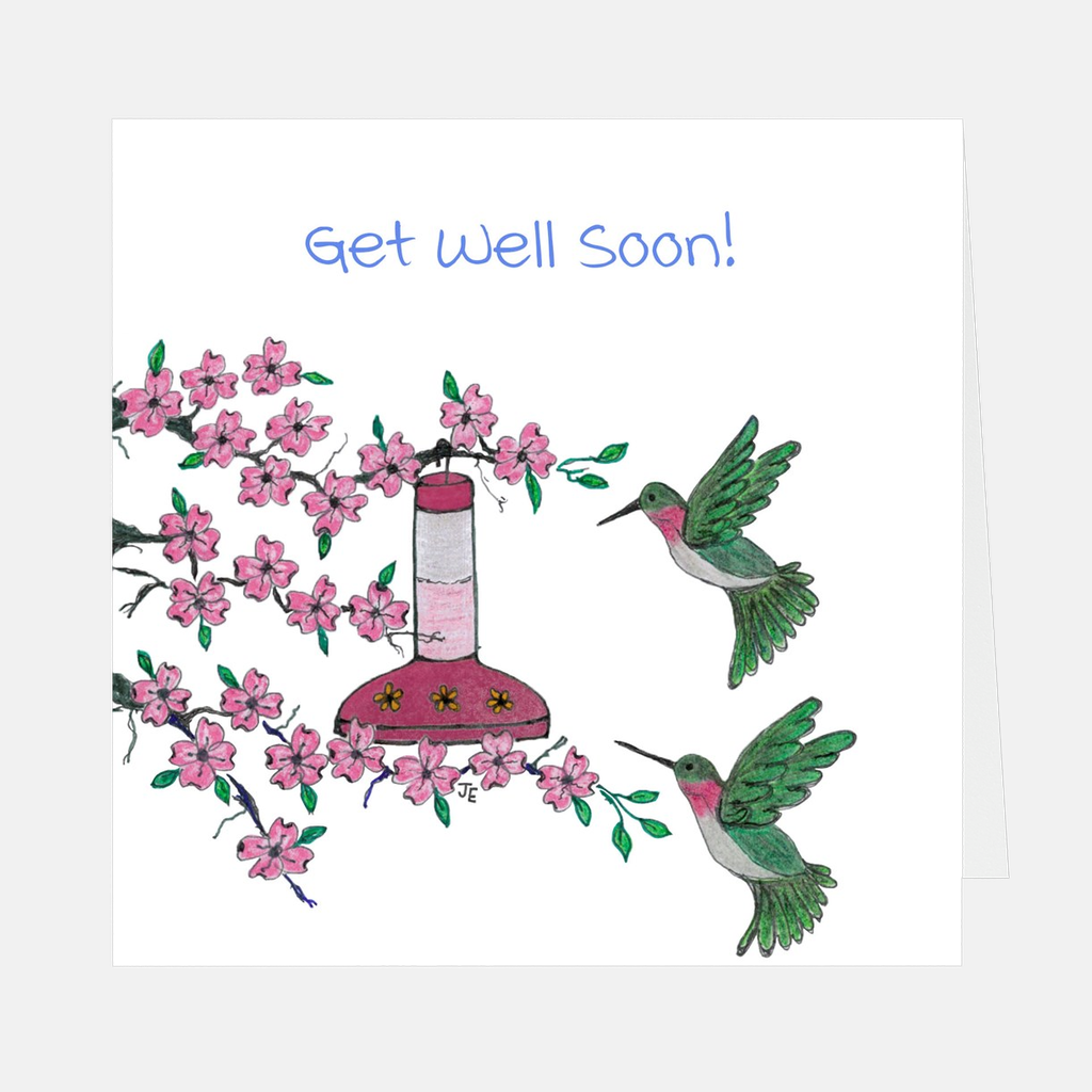 "Pink Dogwood ""Get Well Soon"" Greeting Card"