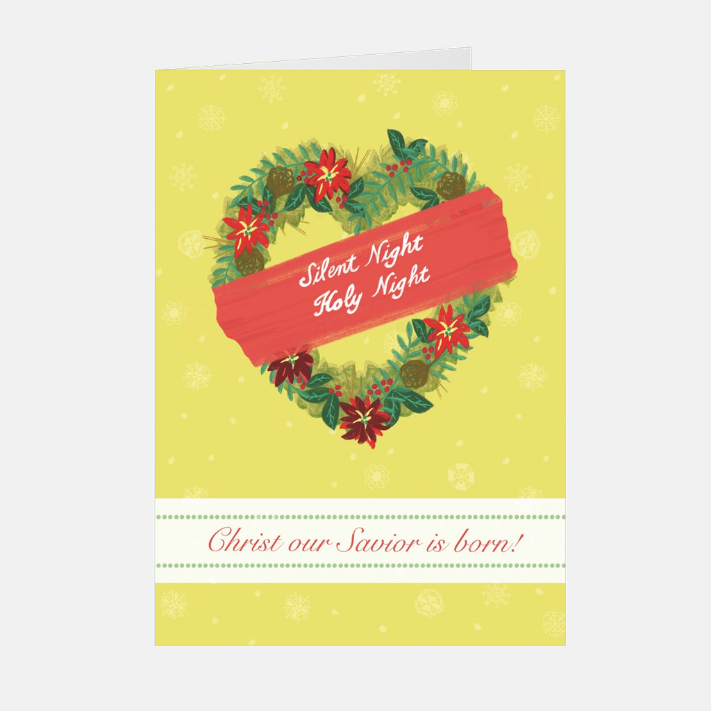 """Christmas Winter Wreath"" Christmas Card"