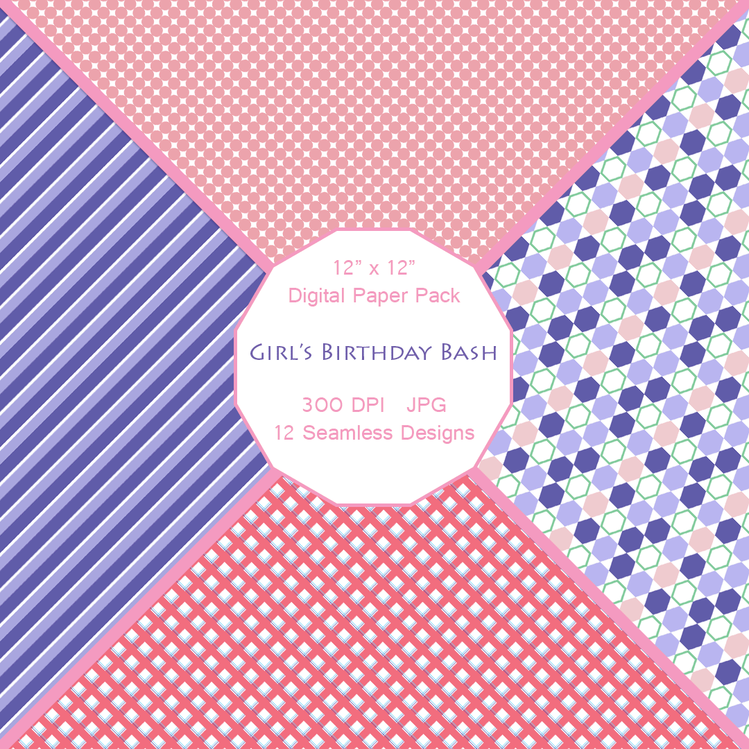 Girl's Turtle Mania Printable Papers