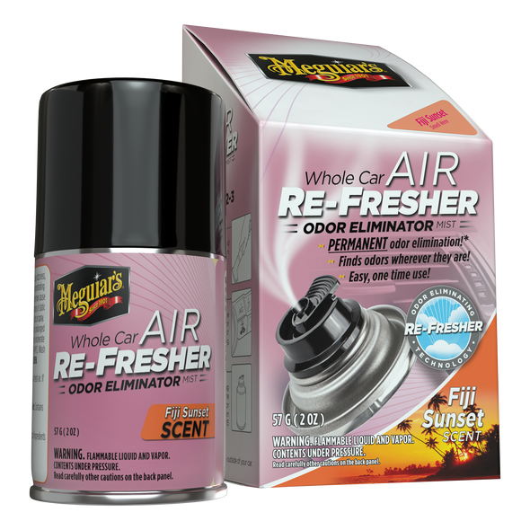MEGUIAR'S  Whole Air Re-Fresher Odor Eliminator Mist, New Car Scent, 1 Pack
