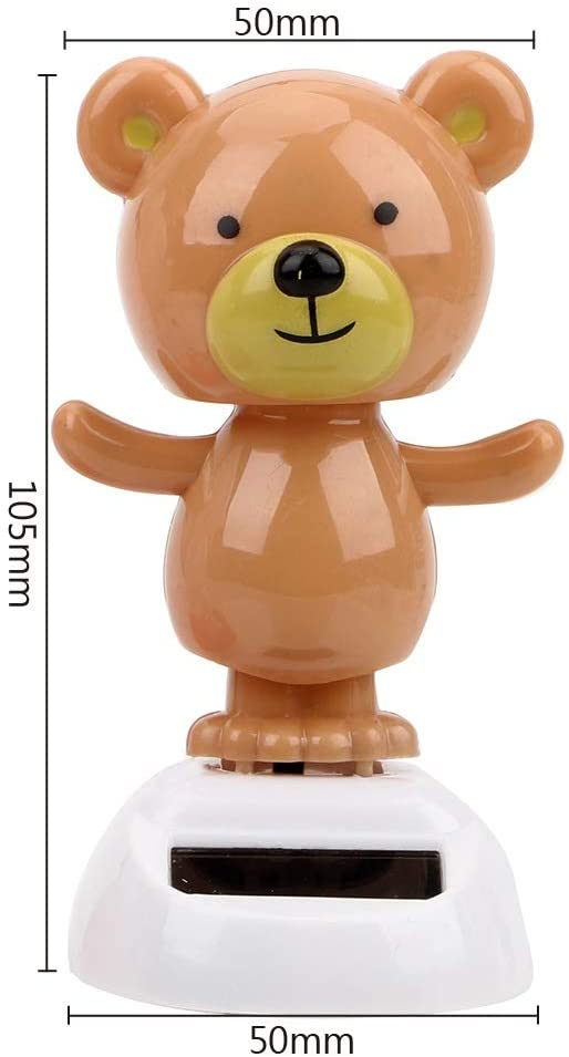 Car Dashboard Ornaments Interior Accessories Cute Bear Dancing Solar Powered - The Car Wizz AutoStore