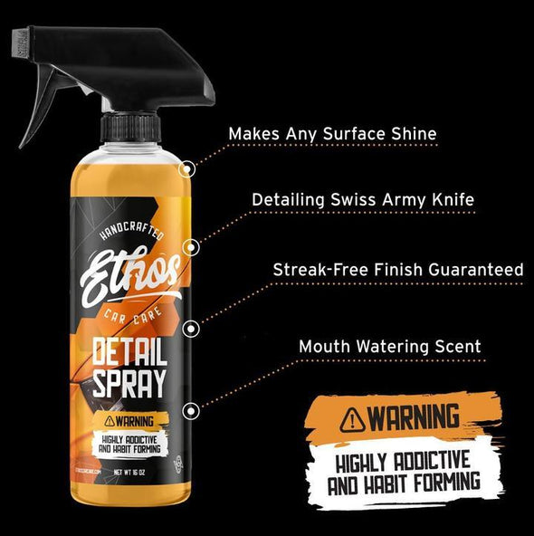 Ethos Detail Spray 16oz - INCREDIBLE GLOSS AND SHINE - The Car Wizz AutoStore