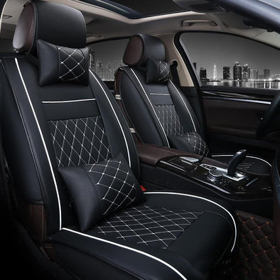 Executive Premium Car Seat Covers with PU Leather for Front & Rear Seats - The Car Wizz AutoStore