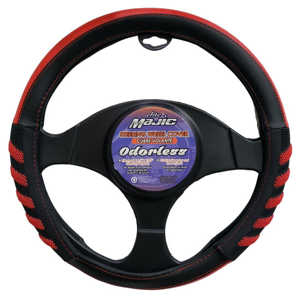 Extra Grip Steering Wheel Cover, Odorless, Sporty, Soft and Snug Grip - The Car Wizz AutoStore