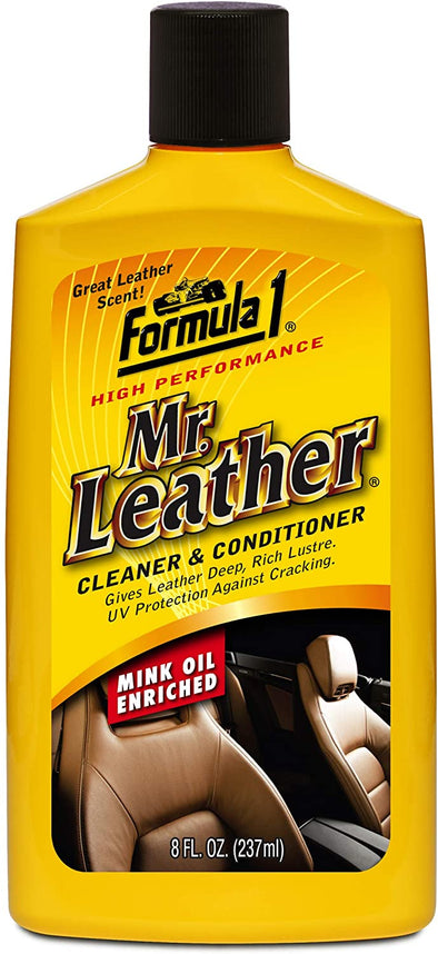 Formula 1 Mr. Leather Cleaner and Conditioner — Mink-Oil-Enriched — 8 fl. oz. - The Car Wizz AutoStore