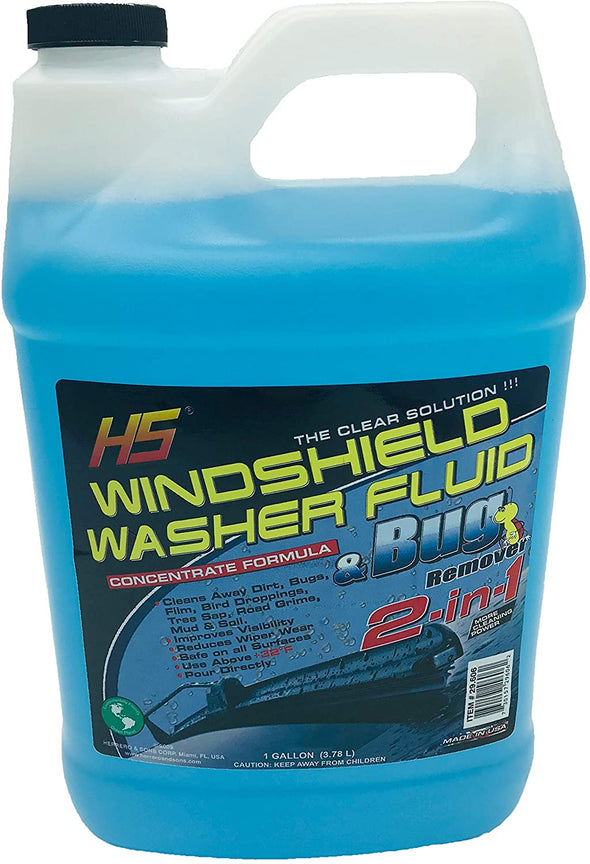 HS 2 in 1 Windshield Washer Fluid - 1 Gal (3.78 Liters) - The Car Wizz AutoStore