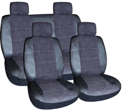 Luxurious Suede Finish & Leather Feel, Air Bag Safe Seat & Headrest Covers. - The Car Wizz AutoStore