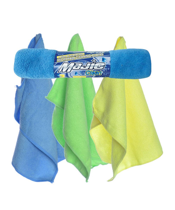 Majic 3 Pack Microfiber Cleaning Cloths - The Car Wizz AutoStore