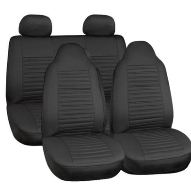 Majic Bali High Back Luxurious Leather Look Seat Cover Set ( Airbag Compatible) - The Car Wizz AutoStore