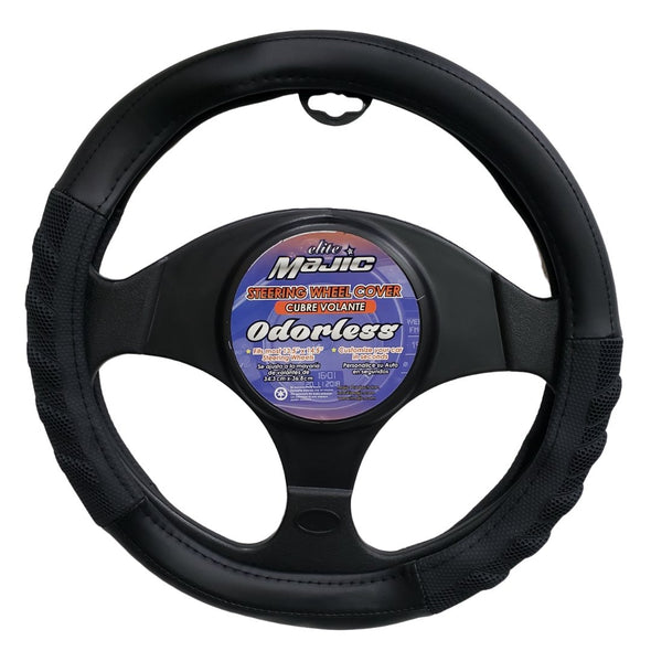 Majic Black Extra Grip Hybrid Steering Wheel Cover, Odorless, Breathable, Anti-Slip - The Car Wizz AutoStore