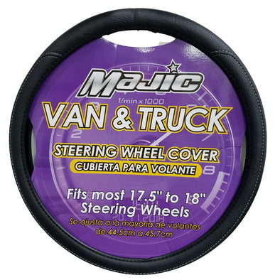Majic Black Van & Truck Steering Wheel Cover, Odorless, Breathable, Anti-Slip - The Car Wizz AutoStore
