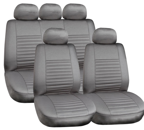 Majic Luxurious Leather Look Seat Cover Set ( Airbag Compatible) - The Car Wizz AutoStore