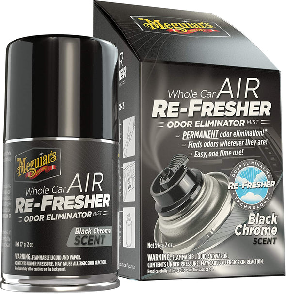 MEGUIAR'S Whole Air Re-Fresher Odor Eliminator Mist, New Car Scent, 1 Pack - The Car Wizz AutoStore