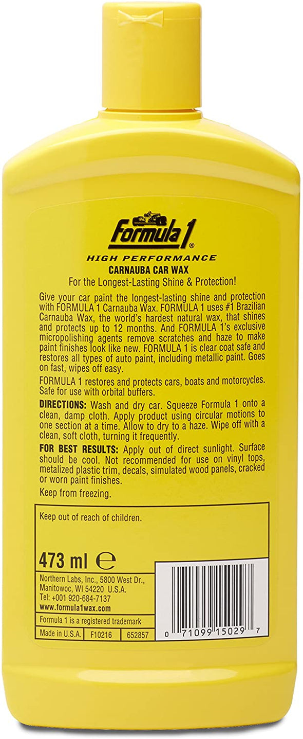 Original Formula 1 Carnauba Liquid Car Wax High-Gloss Shine 16 oz - The Car Wizz AutoStore