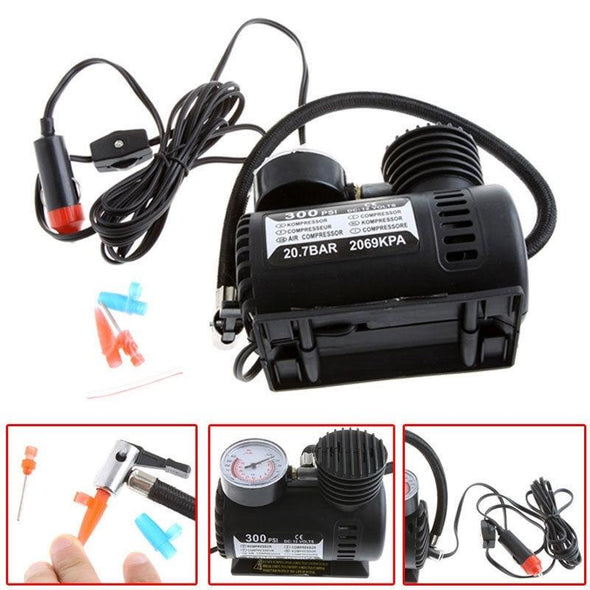 Portable Electric Car Air Compressor Tire Inflator Pump Auto/Bike 12 Volt 250PSI - The Car Wizz AutoStore