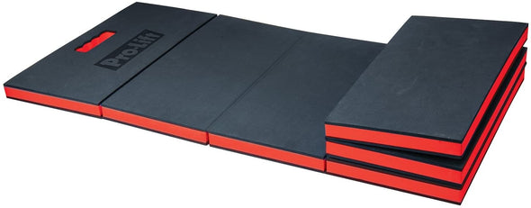 Pro Lift Foldable EVA Mat - Anti Fatigue EVA Foam Sheet (6 fold) - Great for Garage, Picnicking, Gardening, Camping and Outdoor Activities, Black/Red - The Car Wizz AutoStore