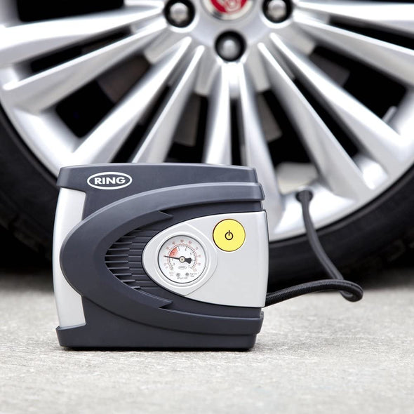 Ring (UK) Tyre Compressor, Inflates Fully deflated car tire in 4.5 Minutes - The Car Wizz AutoStore