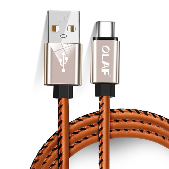USB Type-C Cable Quick Charger Leather Braided Cable For Samsung S9 S8 Note 9 8 Xiaomi Redmi Note 7 Mi9 Fast USB-C Charging Cord - The Car Wizz AutoStore