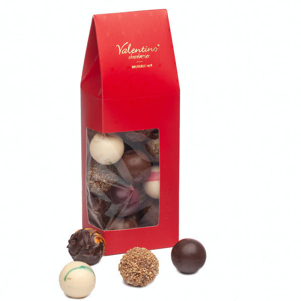 Window box assorted Round Truffles 200g