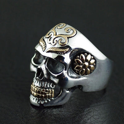 Thailand imports, skull blood new skeleton silver ring. - Mirage Novelty World