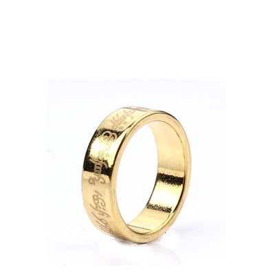 1 Pcs Gold PK Ring Lettering Magic Tricks Magnetic Ring 18mm/19mm/20mm Golden Strong Magnetic Magic Ring Magnet Finger magic - Mirage Novelty World