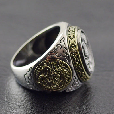 S925 pure silver Thailand imports, Oriental vibrations new Phoenix Phoenix Silver Ring - Mirage Novelty World